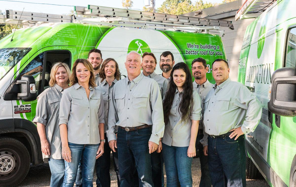Arrington Roofing team in Dallas